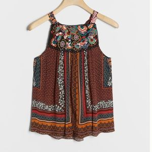 ANTHROPOLOGIE Fiona Embroidered Tank NWT - SP